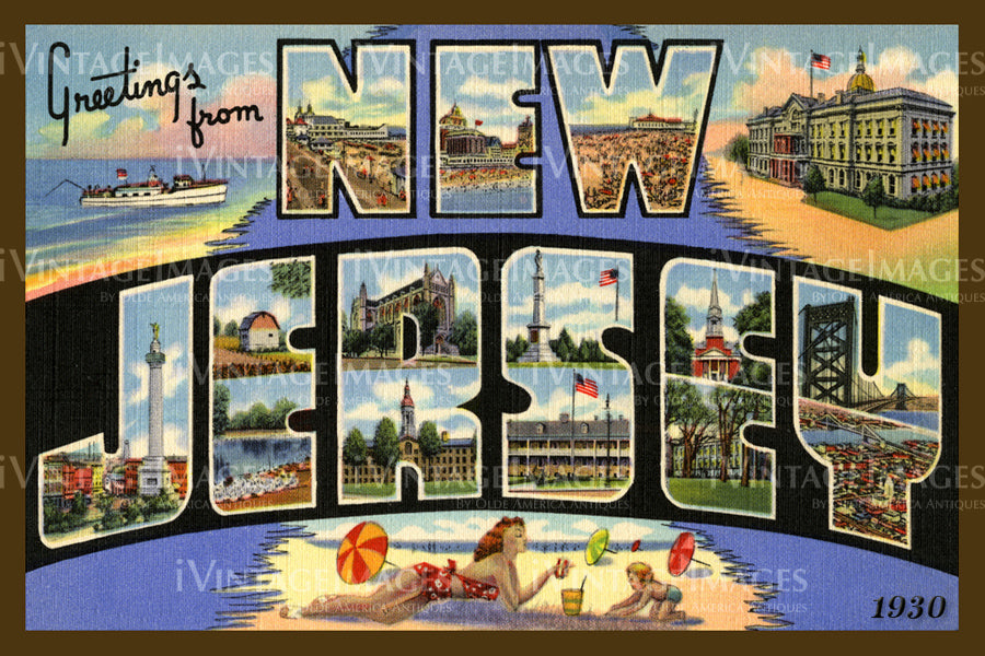 New Jersey Large Letter 1930 - 030