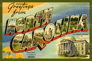 North Carolina Large Letter 1930 - 033