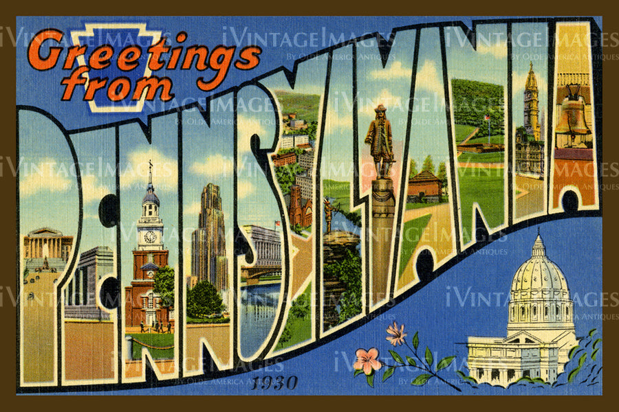 Pennsylvania Large Letter 1930 - 038