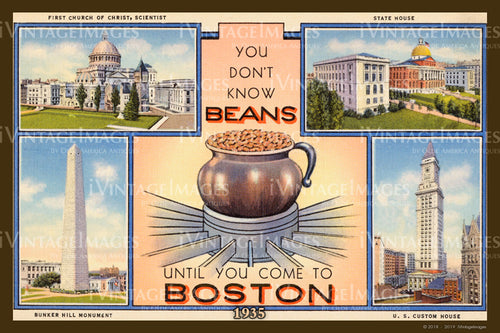 Beans in Boston Postcard 1935 - 008