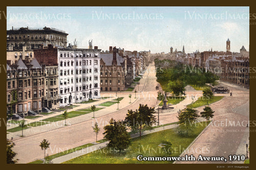 Commonwealth Ave Postcard 1910 - 018