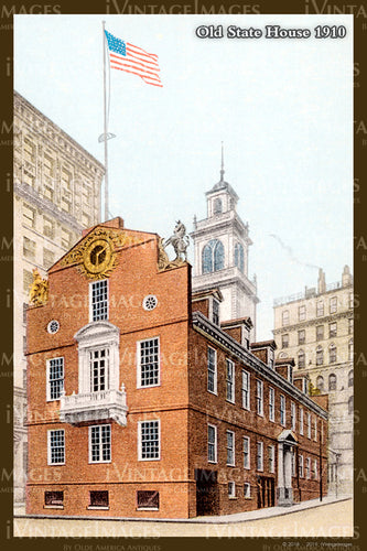Old State House Postcard 1910 - 020