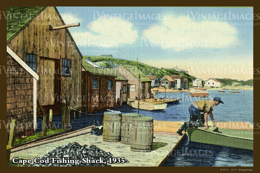Fishing Shack Postcard 1935 - 070