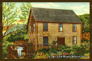 Water Wheel Postcard 1935 - 072