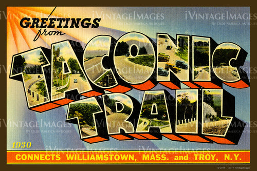 Taconic Trail Large Letter Postcard 1930- 088