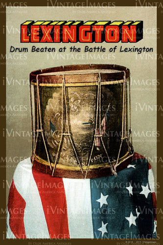 Lexington Drum Postcard 1910- 093