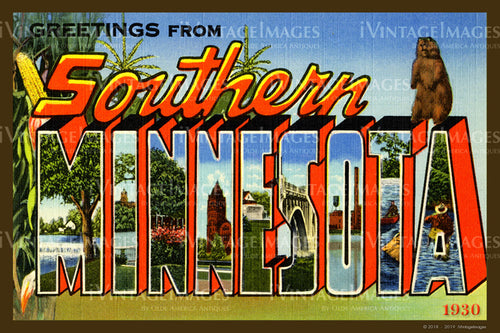 Southern Minnesota Large Letter 1930 - 008