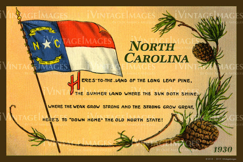 North Carolina State Flag 1930 - 026