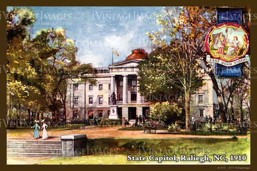 North Carolina State Capitol 1910 - 030
