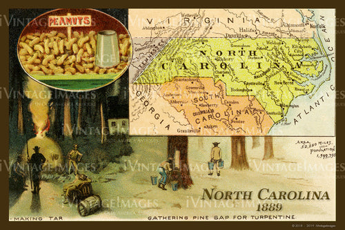 North Carolina Map 1889 - 032