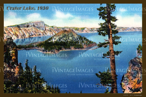 Crater Lake Postcard 1930 - 004
