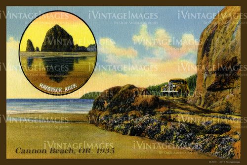 Cannon Beach Postcard 1935 - 017