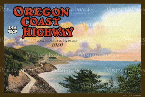 Oregon Coast Highway Postcard 1930 - 020