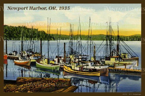 Newport Harbor Postcard 1935 - 029