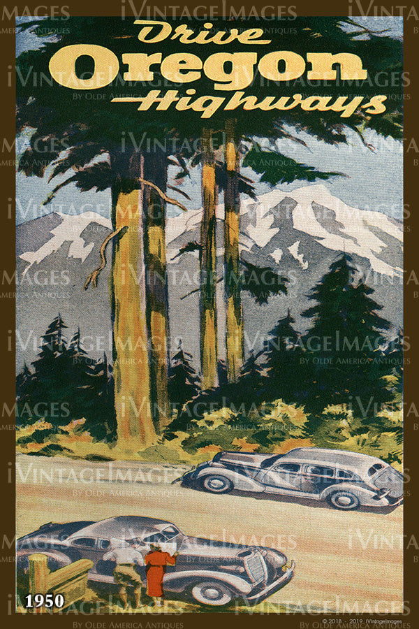 Drive Oregon Highways Cover 1950 - 057
