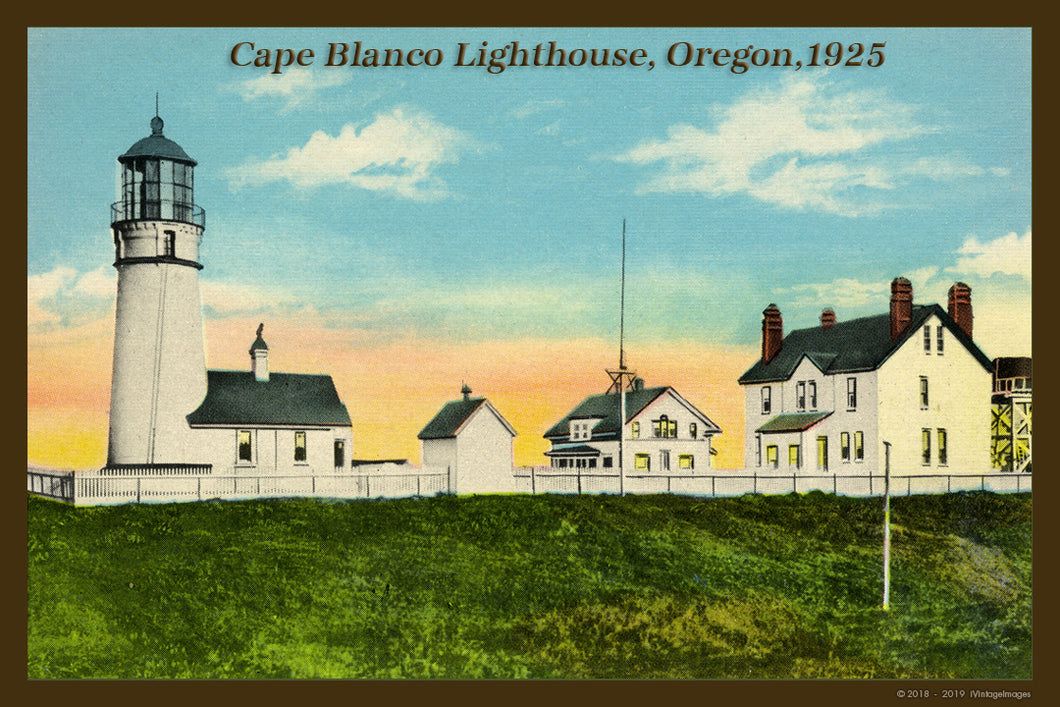 Cape Blanco Lighthouse Postcard 1925 - 032