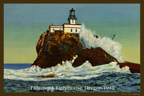 Tillamook Lighthouse Postcard 1935 - 034