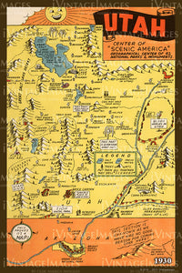 Utah Illustrated Map 1930 - 019
