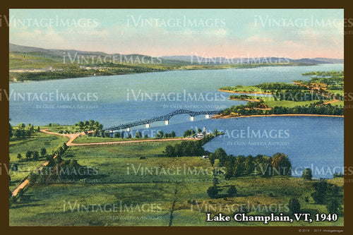 Lake Champlain Postcard 1940 - 018