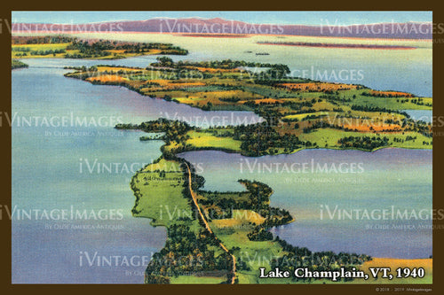 Lake Champlain Postcard 1940 - 019