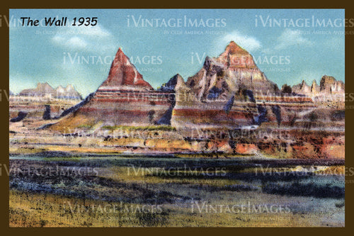 Badlands Postcard 1935 - 1