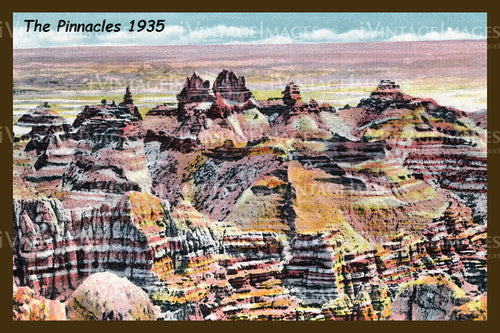 Badlands Postcard 1935 - 2