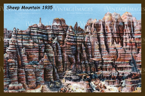 Badlands Postcard 1935 - 3
