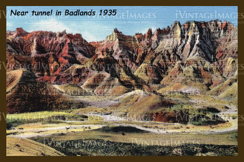 Badlands Postcard 1935 - 5