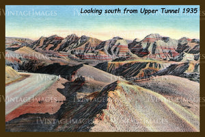 Badlands Postcard 1935 - 6