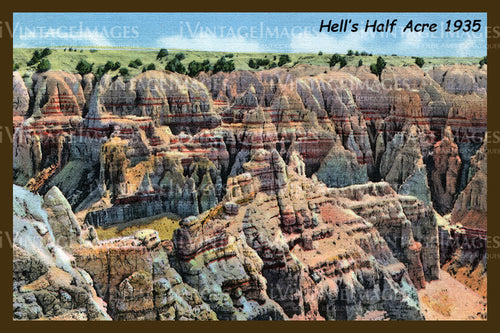 Badlands Postcard 1935 - 7