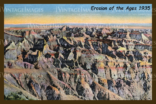 Badlands Postcard 1935 - 9