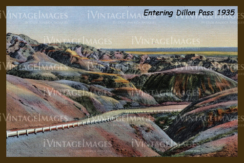 Badlands Postcard 1935 - 10