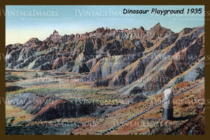 Badlands Postcard 1935 - 11