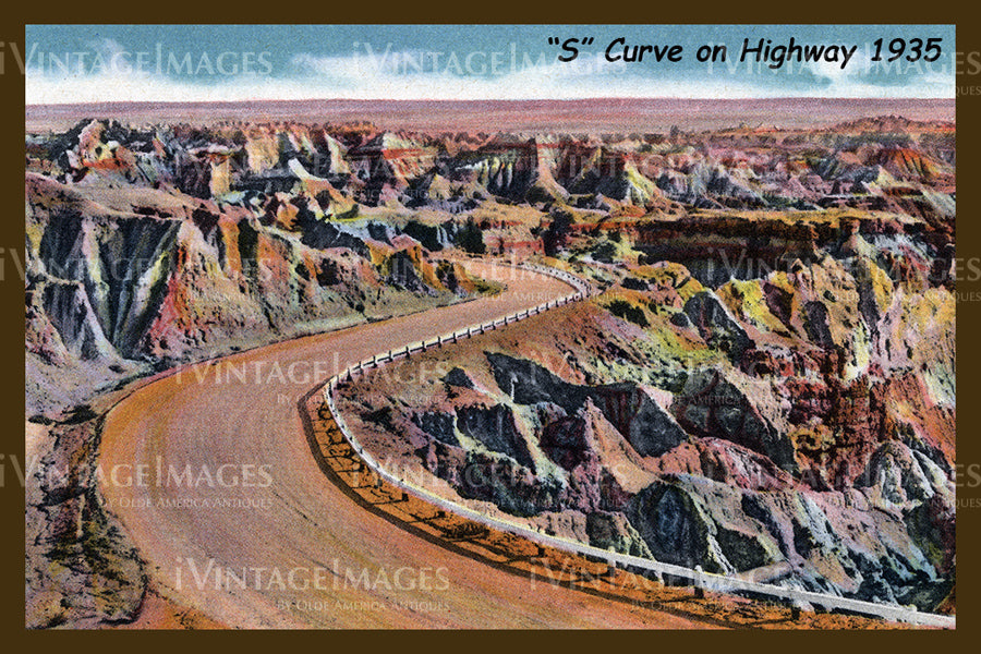 Badlands Postcard 1935 - 12