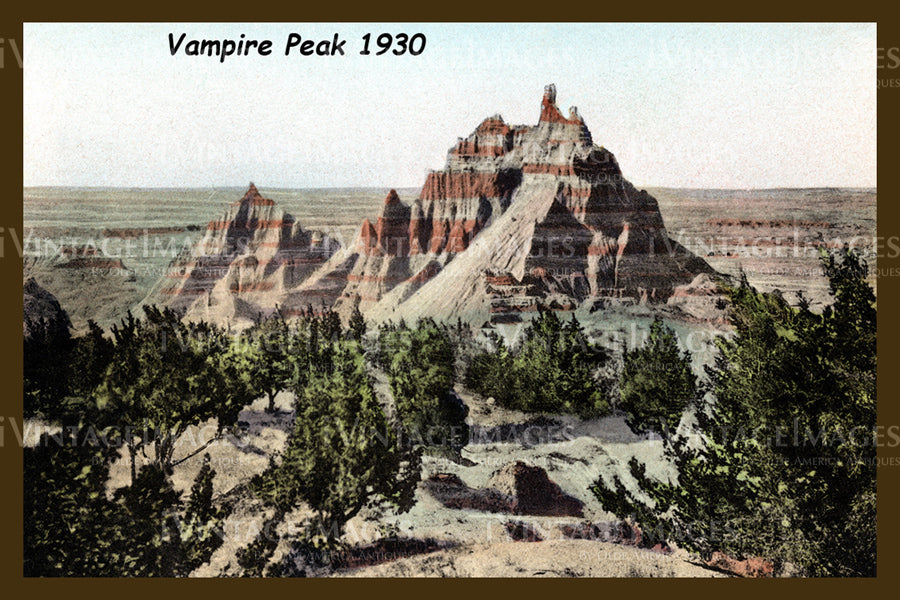 Badlands Postcard 1930 - 14