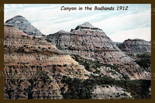 Badlands Postcard 1912 - 15