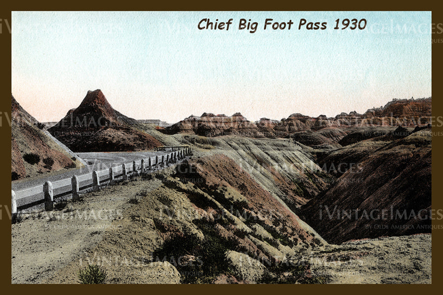 Badlands Postcard 1930 - 16