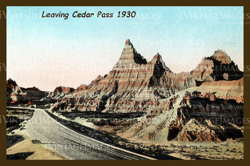 Badlands Postcard 1930 - 17