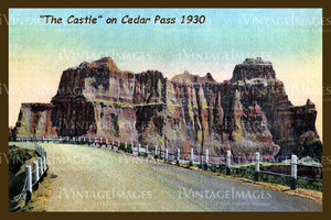 Badlands Postcard 1930 - 18