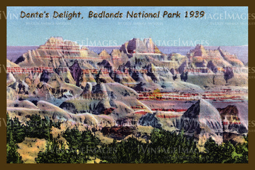 Badlands Postcard 1939 - 20