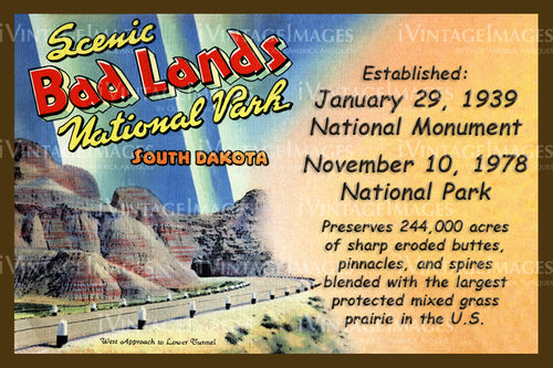 Badlands Postcard 1939 - 21
