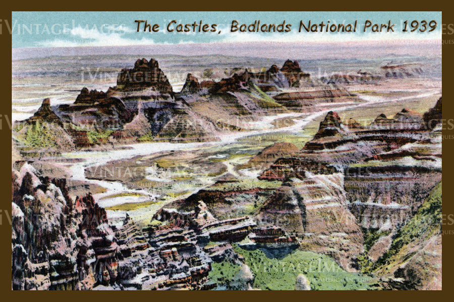 Badlands Postcard 1939 - 22