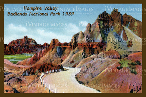 Badlands Postcard 1939 - 23