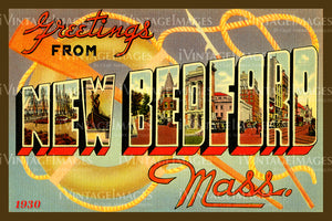 New Bedford Postcard 1930 - 30