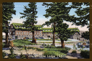 Crater Lake Postcard 1930 - 3