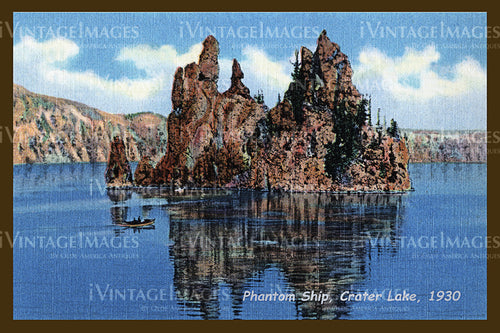 Crater Lake Postcard 1930 - 4