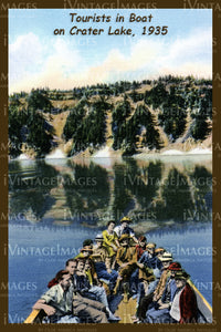 Crater Lake Postcard 1935 - 7