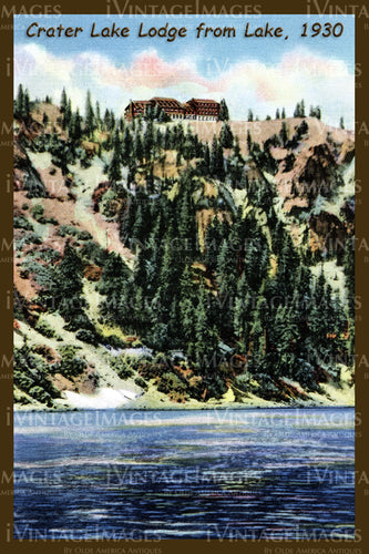 Crater Lake Postcard 1930 - 8