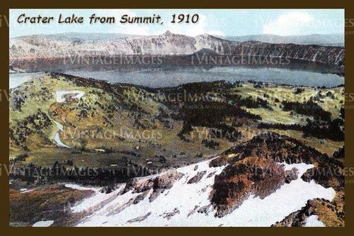 Crater Lake Postcard 1910 - 10