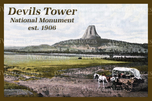 Devils Tower Postcard 1906 - 1